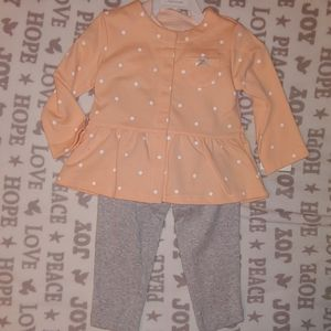 NEW Carter's girls 12M 3 piece outfit